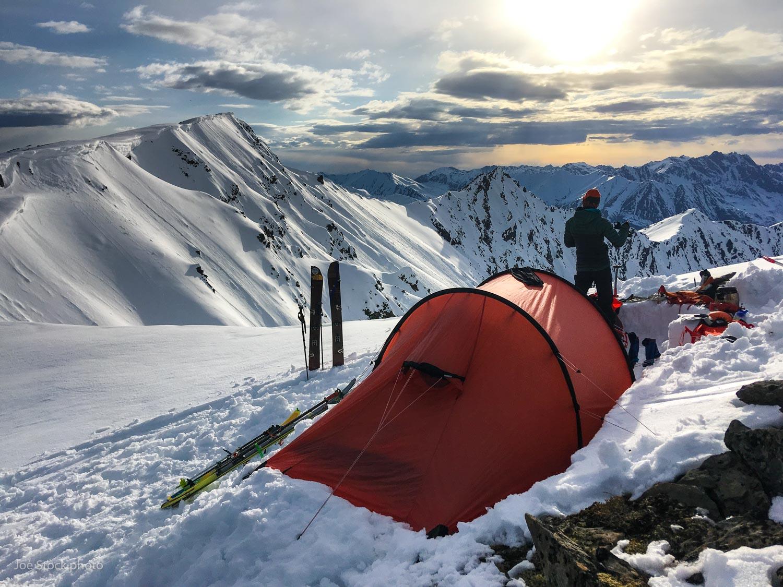 Ridge camping in the Talkeetna Mountains.