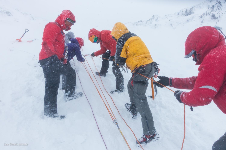 Rescue training with Kodiak Island Search and Rescue in full Scottish/Kodiak conditions.