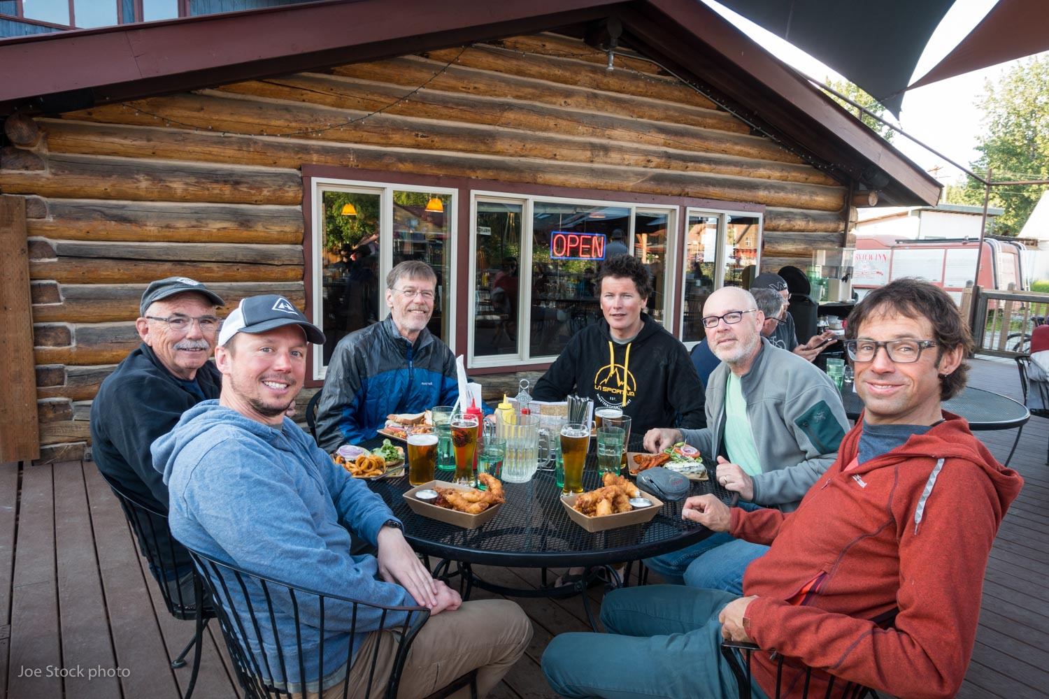 Beverages and piles of food at Twister Creek back in Talkeetna.  Thanks guys for yet another incredible trip! Your friendships are among the best and longest of my mountain time. Mountains are just mountains. It's people like you that make the mountains special.