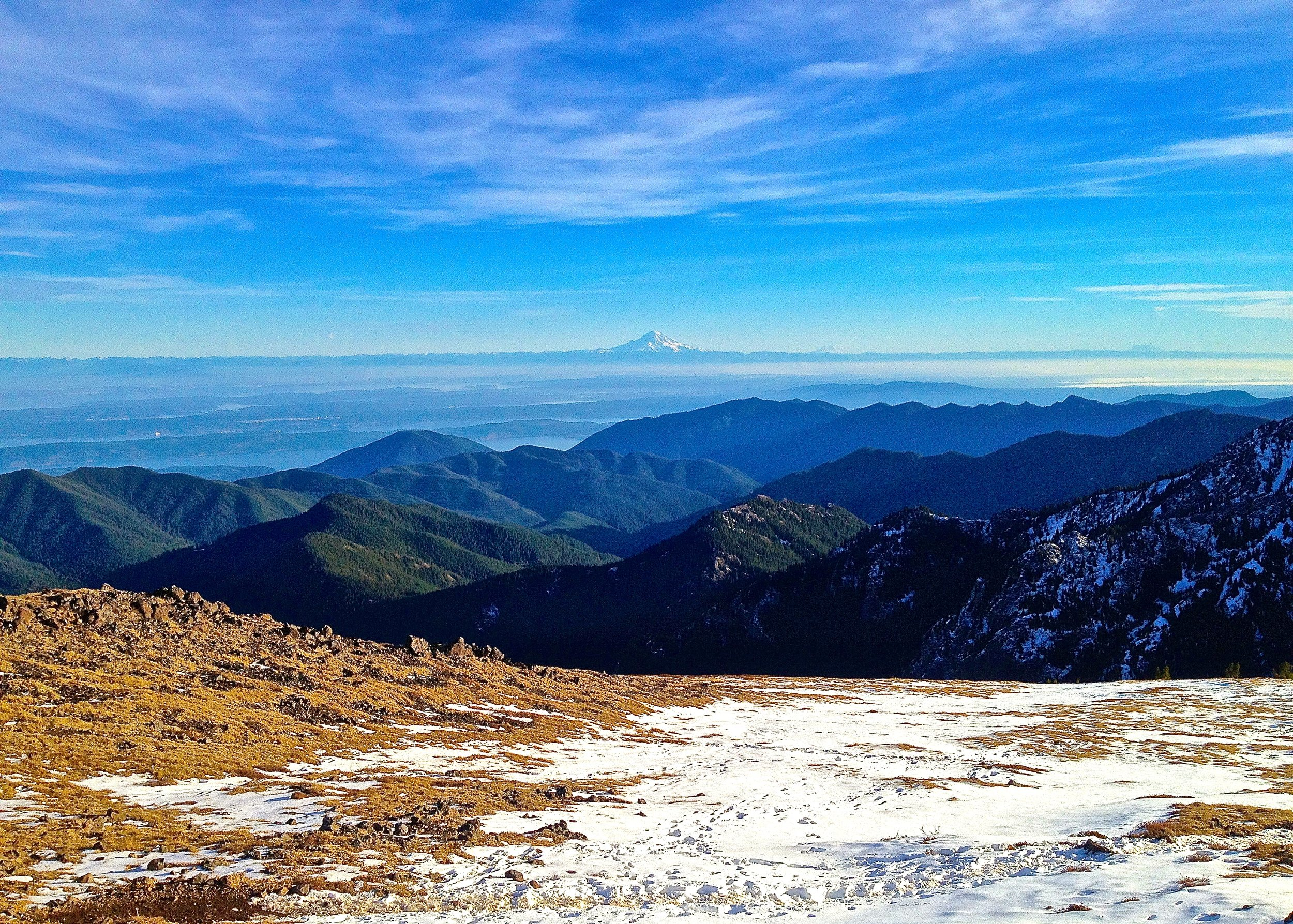 MT. TOWNSEND, WA - LOOKING SOUTH TOWARDS MT. RAINIER