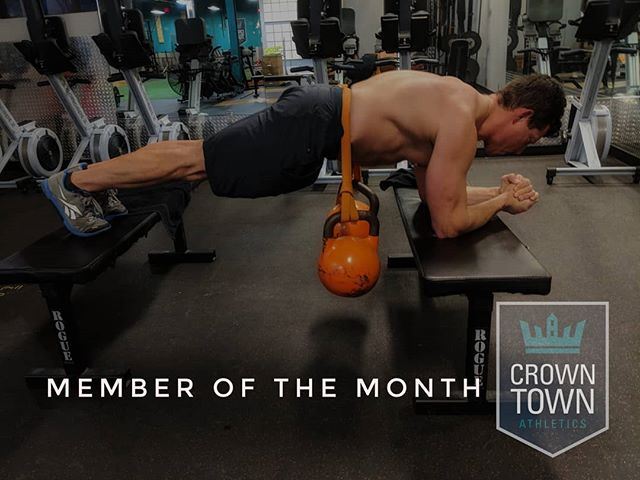 The May member of the month is @kevinzolot. Kevin earned this honor by following instructions diligently and containing any contrarian tendencies. No, Kevin is our member of the month because he always brings a unique energy to the gym, pushes himself by challenging his weaknesses, and providing quality candor to help us be better as coaches.  Now stop deadlifting with a stitched up hand . . . #crossfit #charlotte #memberofthemonth #elizabeth #plazamidwood