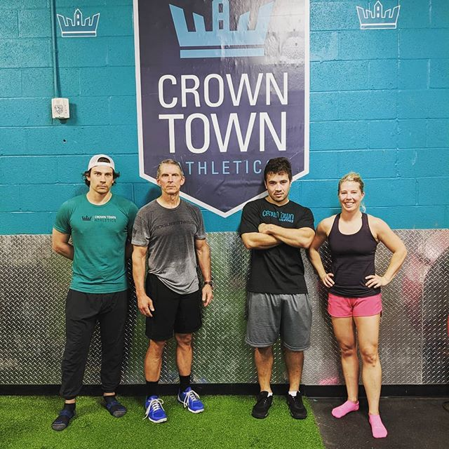 CTA Staff Photo 2019 . P.S Everyone, please welcome our new coach Braulio Ezequiel (Brau). Brau will be helping me out during the evening classes. Brau and his wife, Vanessa, just moved to Charlotte from Brazil. For the past five years, Brau has coached at Crossfit 198 in Sao Paulo and holds a Crossfit level 2certification. In addition to Crossfit, Brau is an avid Rugby player. Here is Brau helping the coaching staff tune up our muscle ups. . . . #crossfit #coaches #charlotte #charfit #elizabeth #plazamidwood #cherry #myerspark
