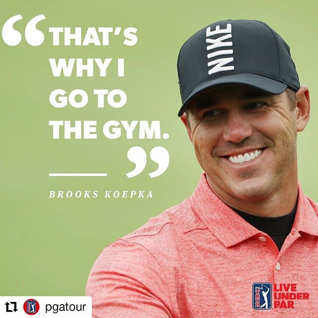 Brooks understands.  #Repost @pgatour • • • • • • Reporter: Have you been surprised with how good you've been out of the rough? @BKoepka: 💪💪💪 #LiveUnderPar #charlotte #golf #golfswing #golftraining #uptown #elizabeth #myerspark