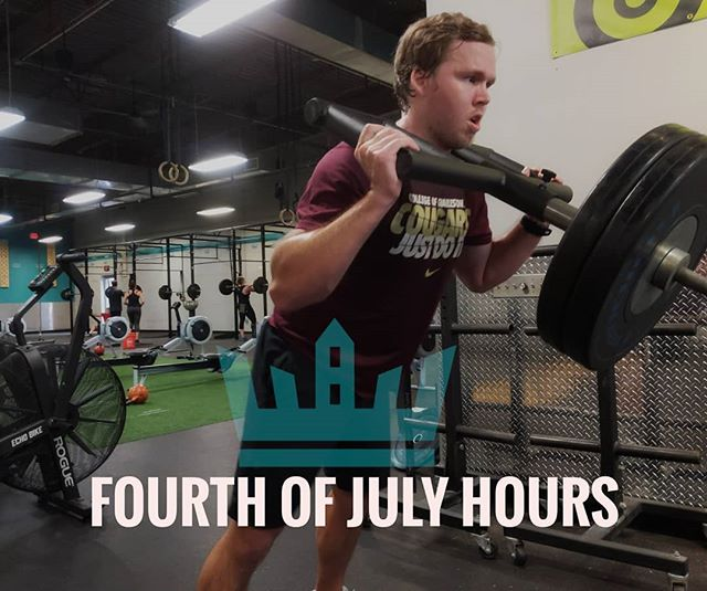 Fourth of July Weekend Schedule 4th-9am only 5th-9am only 6th & 7th Regular Schedule . . . #4thofjuly #summer #gym #charlotte #charlottefitness #elizabeth #myerspark #plazamidwood #uptown