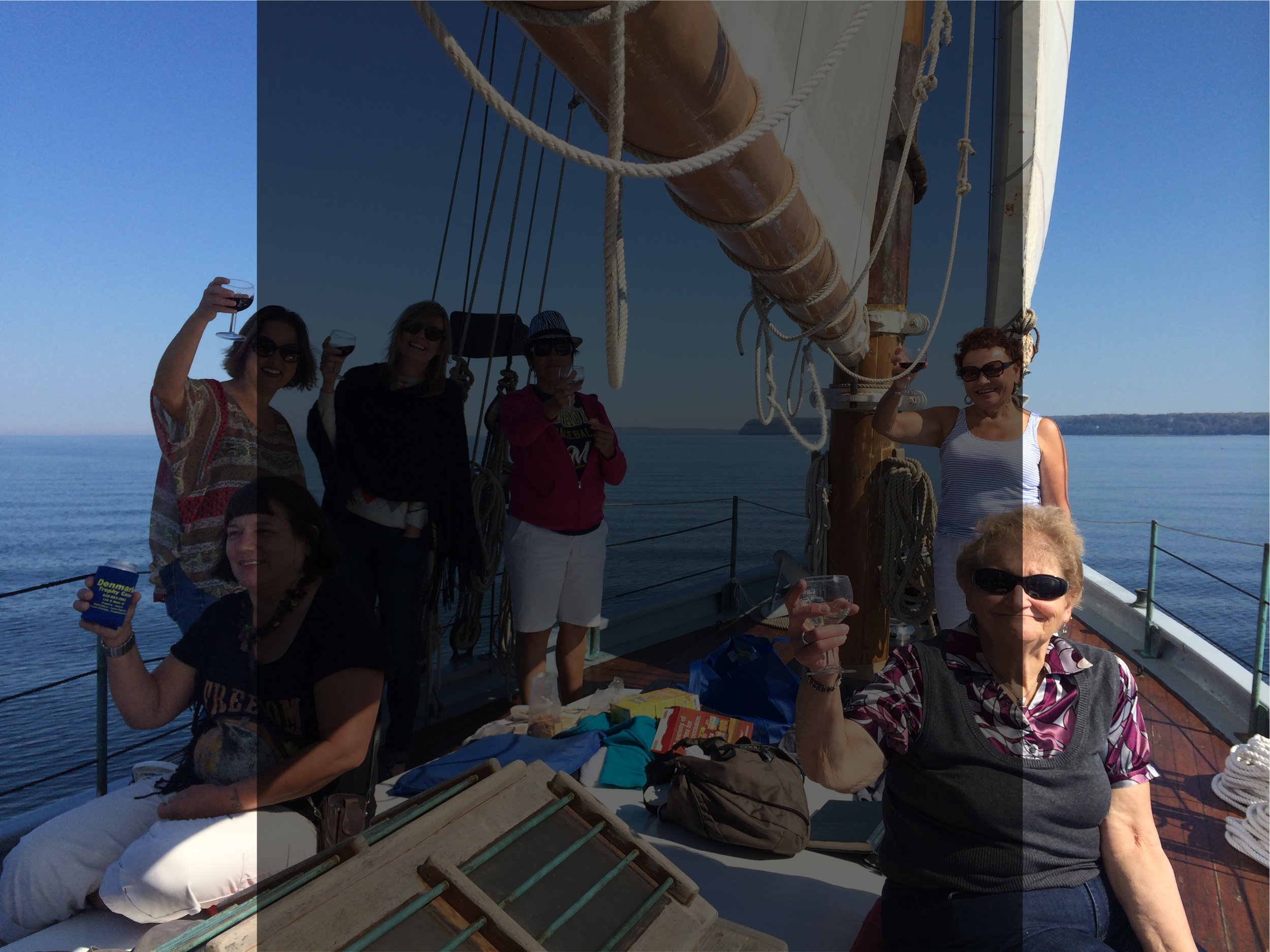 Private Charters  - Whether you're a small group or celebrating a family reunion, we are happy to accommodate your private parties. We offer customized private sailing charters on both our 40-foot, 6 passenger sloop and our 65-foot, 23 passenger schooner.Please bear in mind that these passenger counts are set in stone by the coast guard and we cannot sail above capacity.We are happy to be a part of your anniversary, birthday party, or even your engagement (just make sure you tell us first so we don't give the surprise away)!