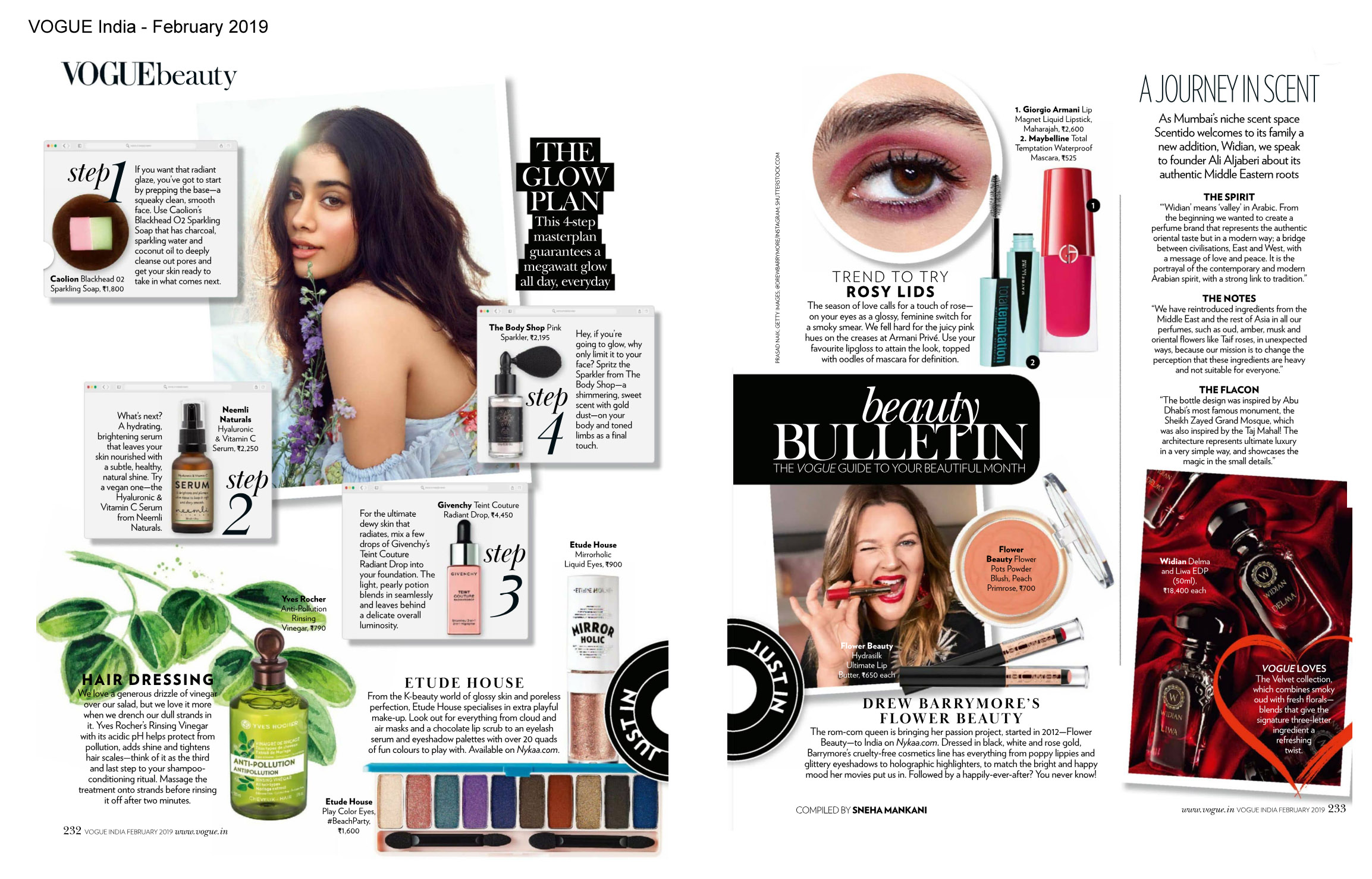 FLOWER BEAUTY LAUNCH IN VOGUE INDIA