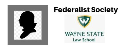 Wayne Law Federalist Society Logo