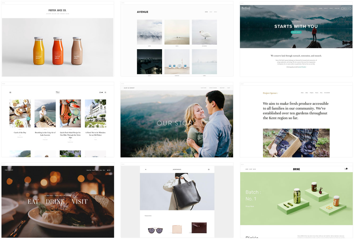 So many Squarespace templates, so little time.