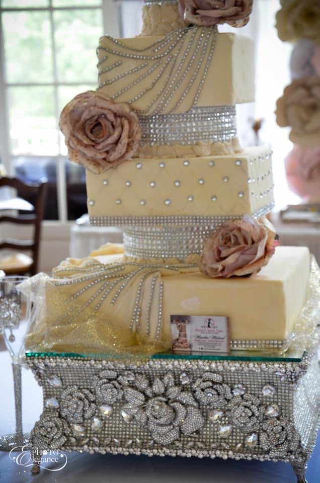 Marsha cake & stand E & E event.jpg