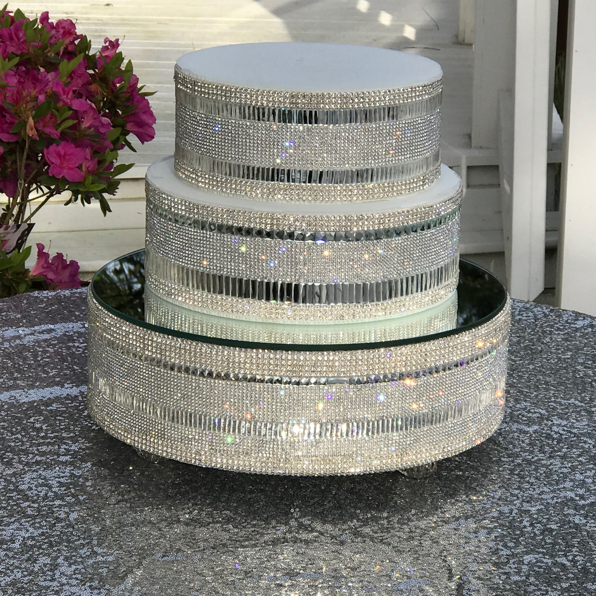 """Lustrous  Base and Separators $135.00, Base and one (1) separator $125, cake stand alone 16"""" $85.00"""