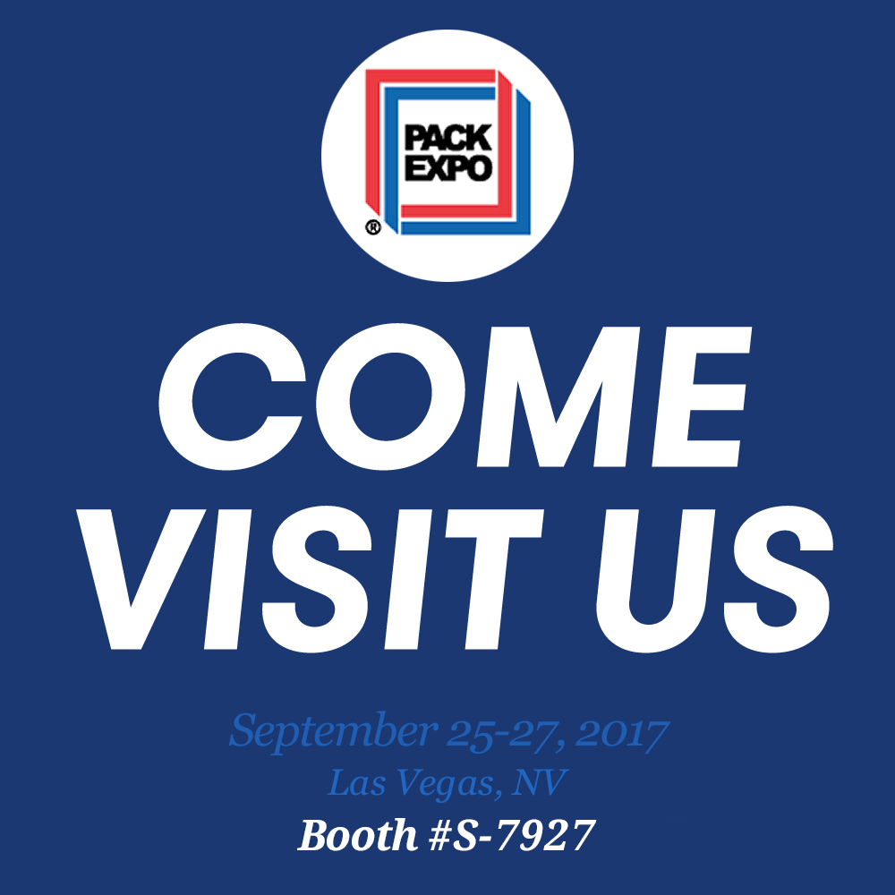 - Don't forget that this week, we are in Las Vegas for PACK EXPO 2017.  Come visit us and talk to us about your packaging projects.