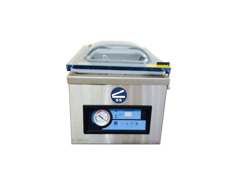 Chamber Vacuum Sealers - Chamber Vacuum SealersIn a chamber vacuum sealer, the product is placed completely in a machine before sealing.