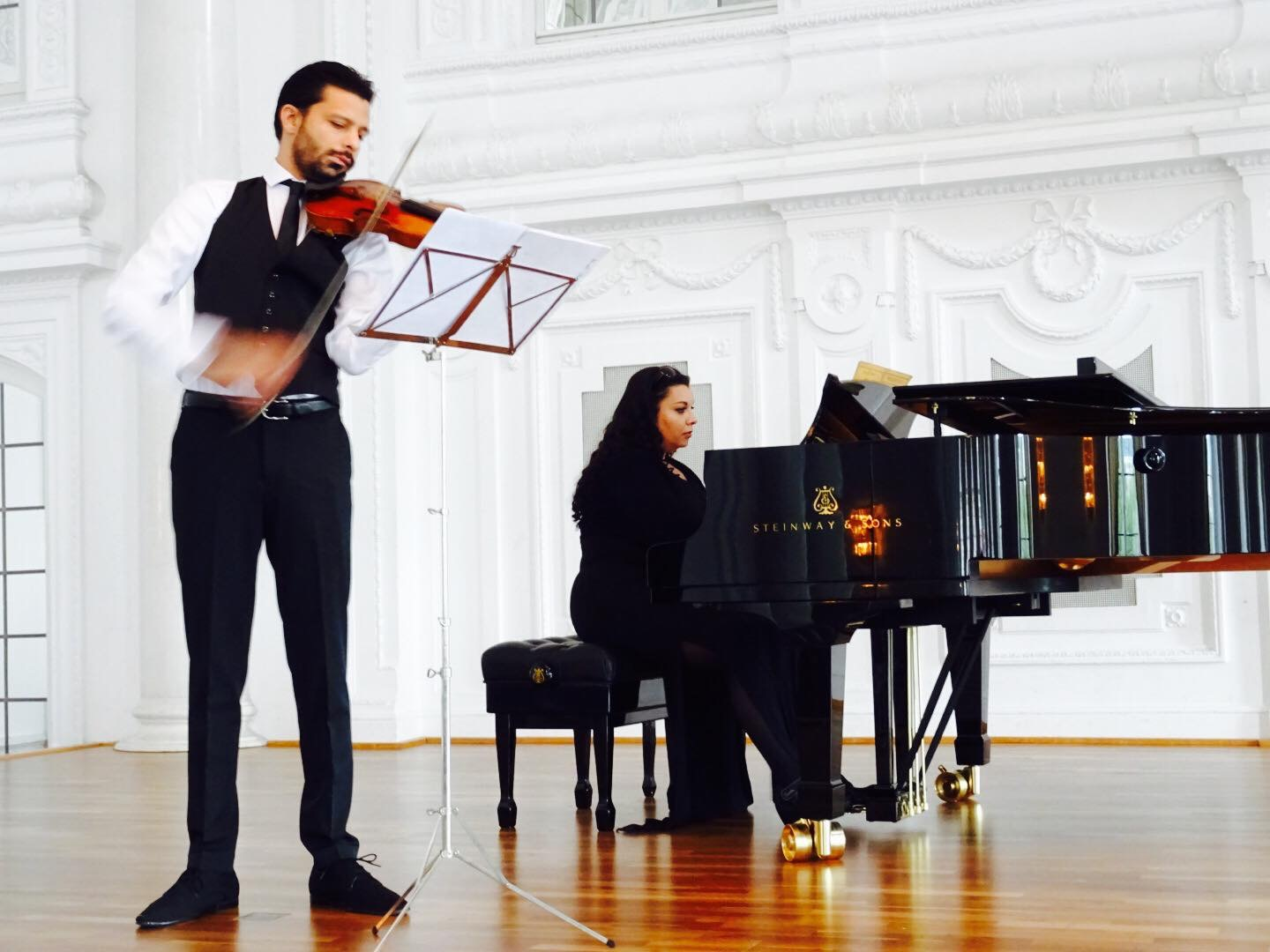 Mr Razvan Stoica accompanied by his sister concert pianist Andreea Stoica.