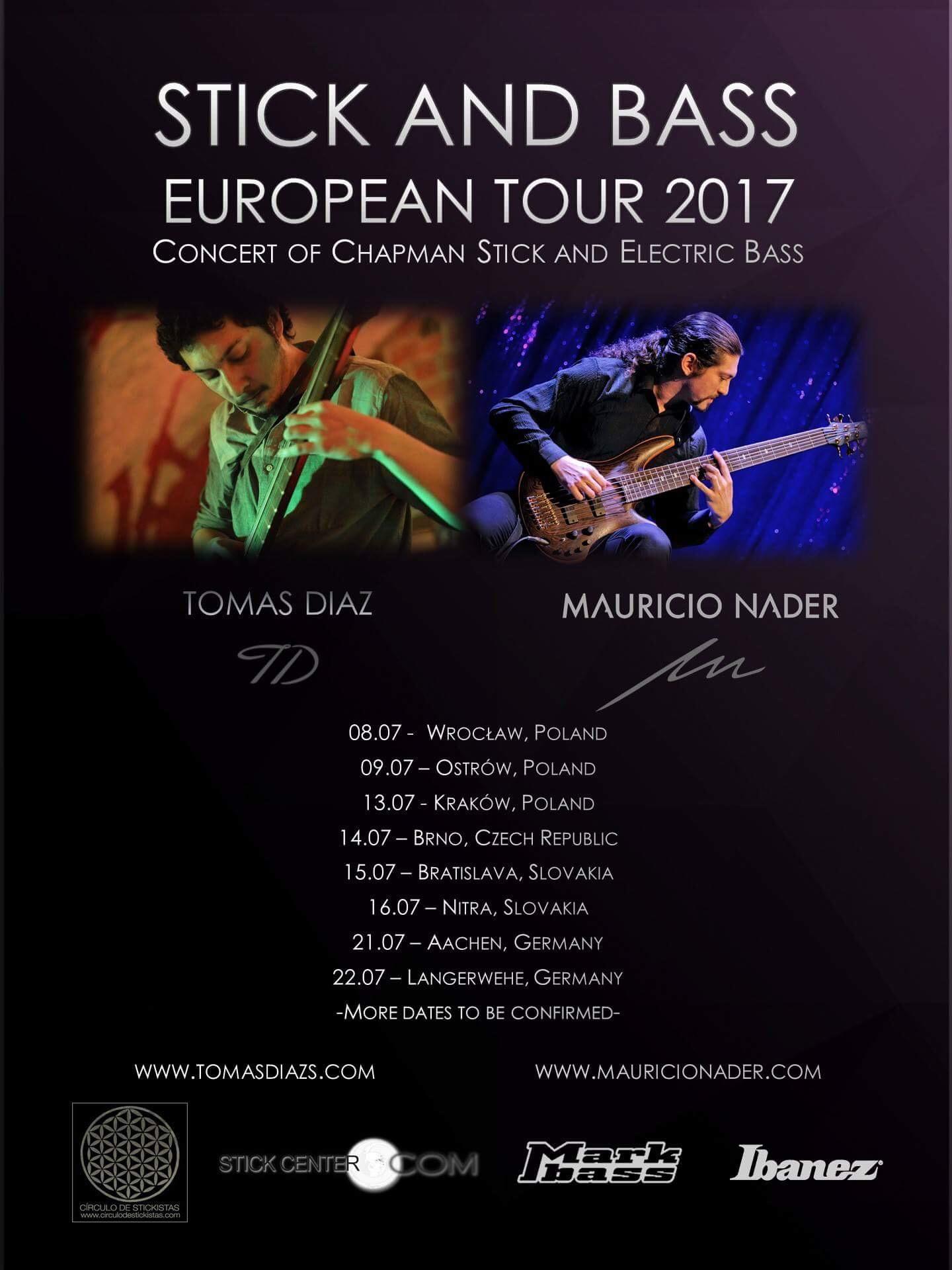 Stick and Bass European Tour 2017.JPG