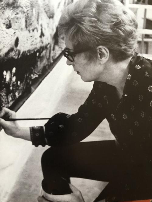 June Wayne in the Studio