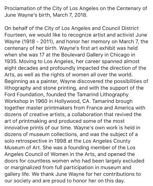 June Wayne City of Los Angeles