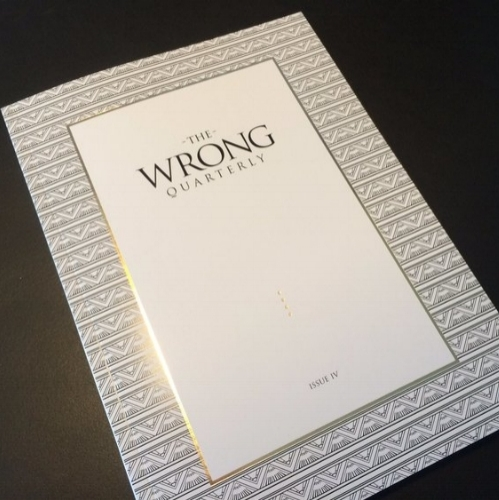 Click here to buy a back issue of The Wrong Quarterly # IV and read  Talk, Chalk Joseph .