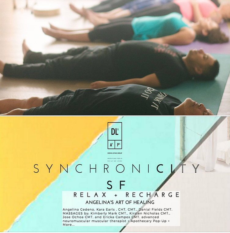 JOIN SYNCHONICITY FOR THEIR SAN FRANCISCO POP UP SERIES ON SATURDAY OCTOBER 29TH!