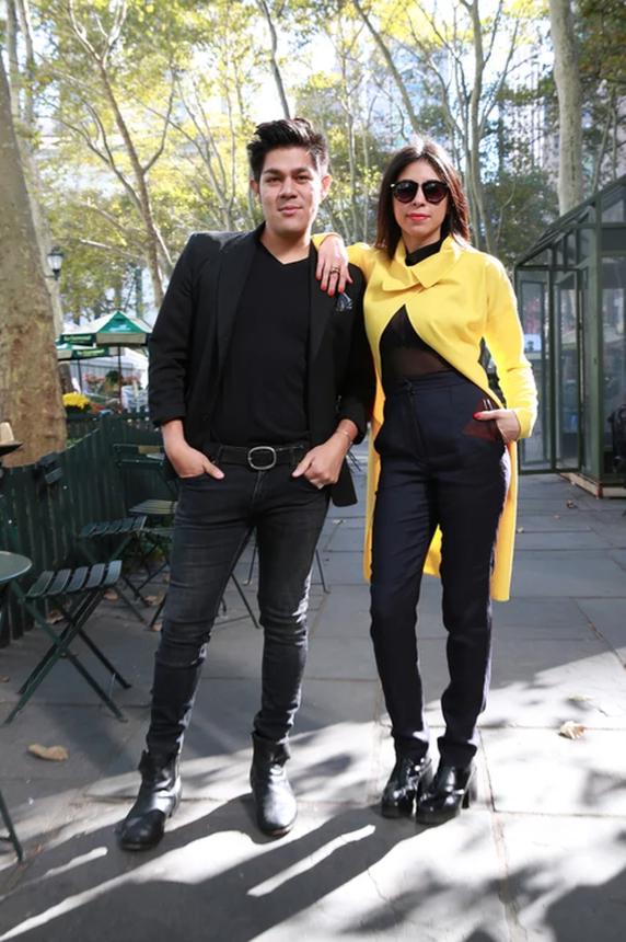 Farfan with her business partner, Angel Macias // photo:Daniela Vesco, Vivala
