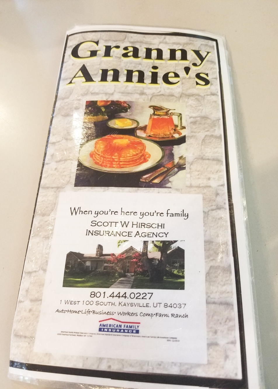 Granny Annie's Family Restaurant - Kaysville Utah - Brunch Date
