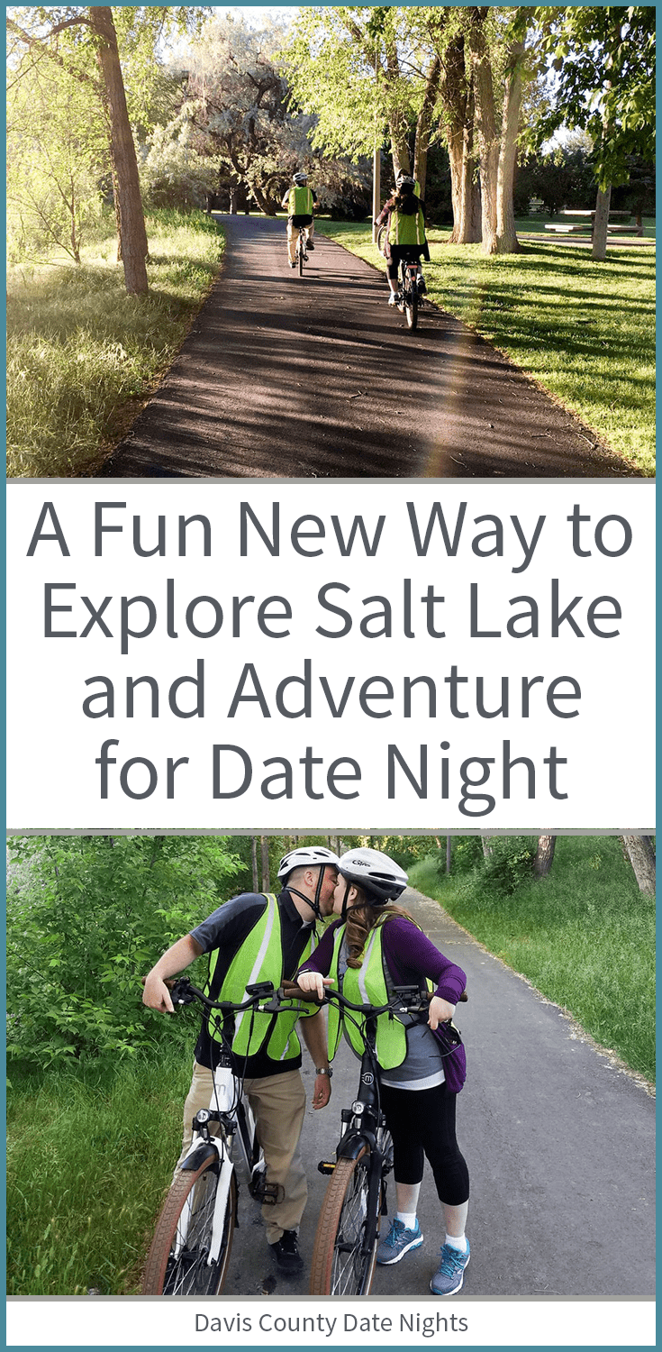 Adventure and explore in Downtown Salt Lake on an ebike for date night