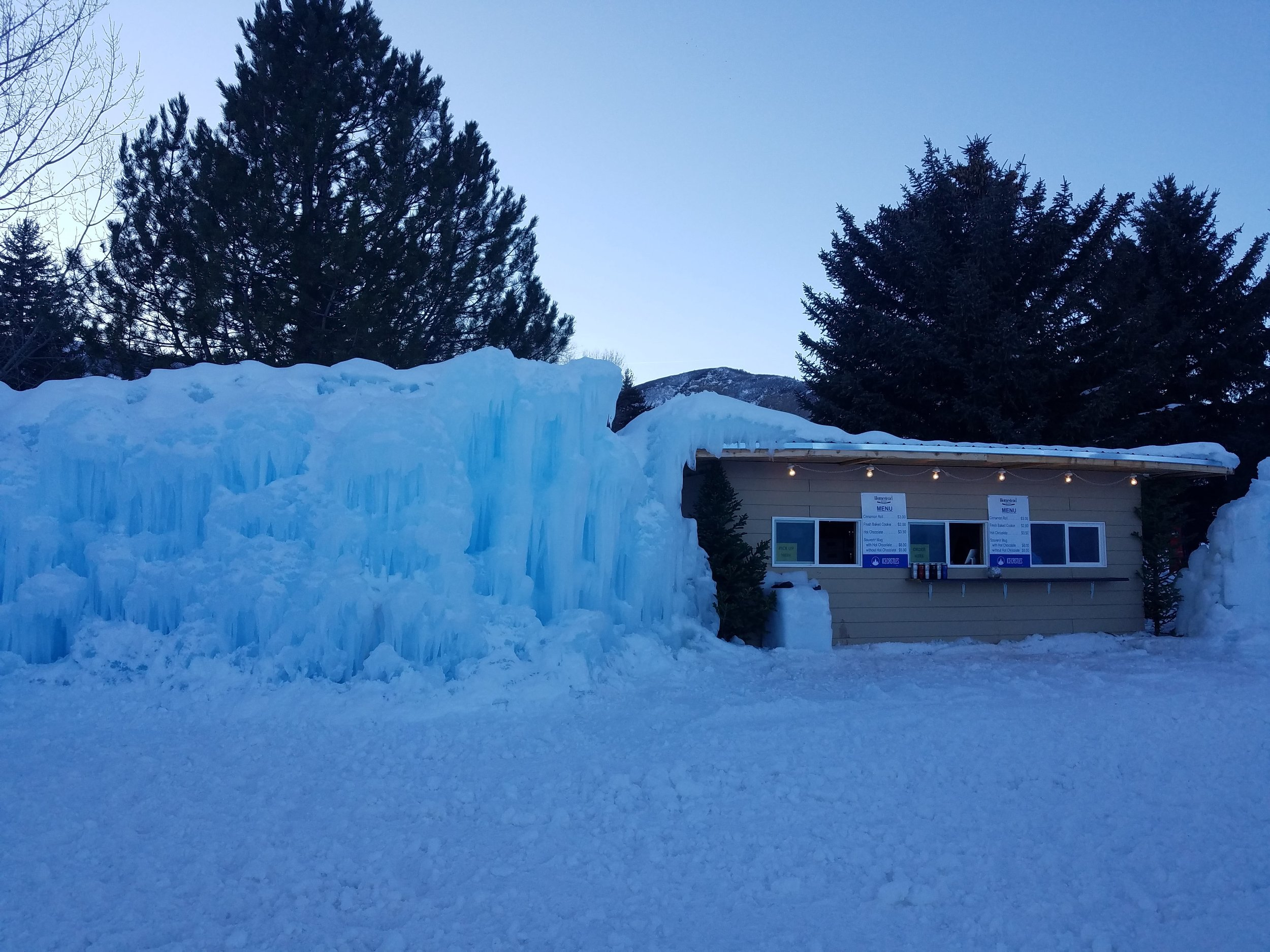 the Ice Castles at Homestead Resort