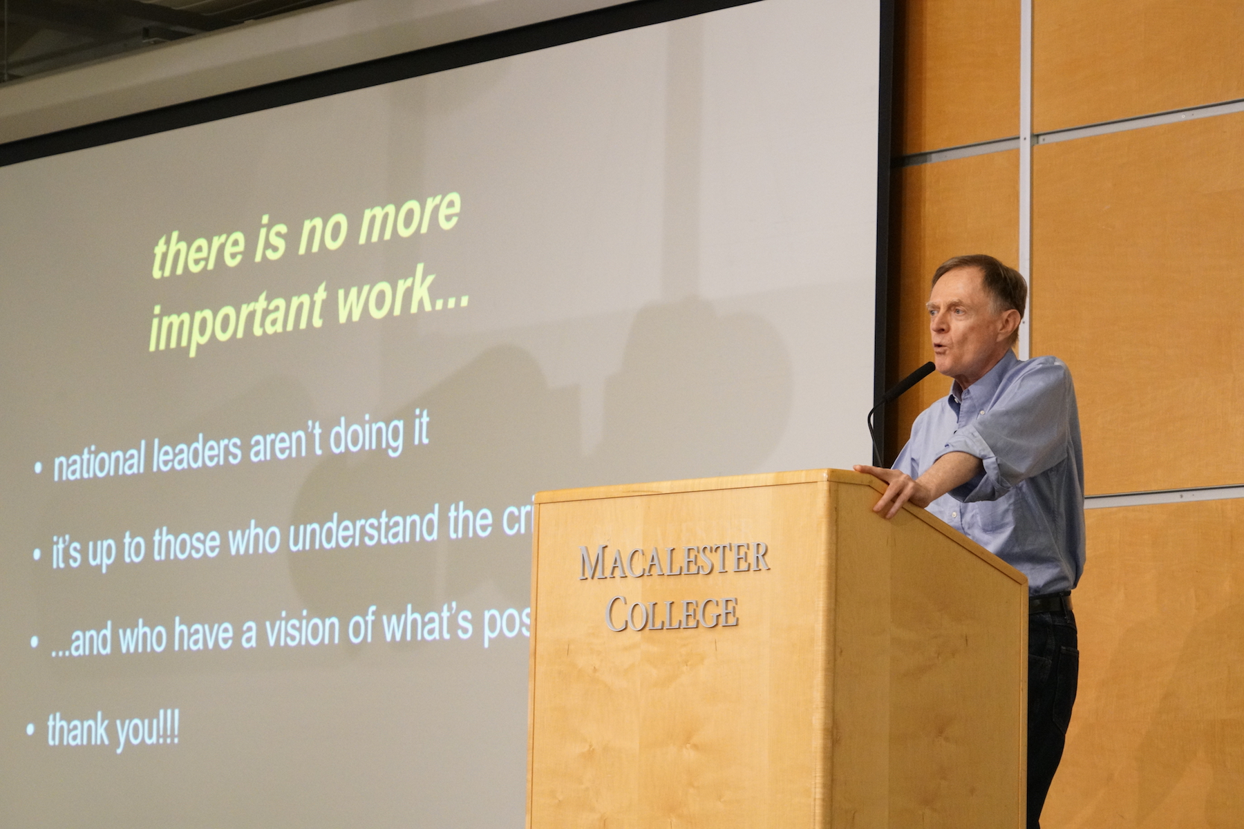 Keynote speaker Richard Heinberg assures us there is no more important work than Transition. Photo by Teresa Konechne.