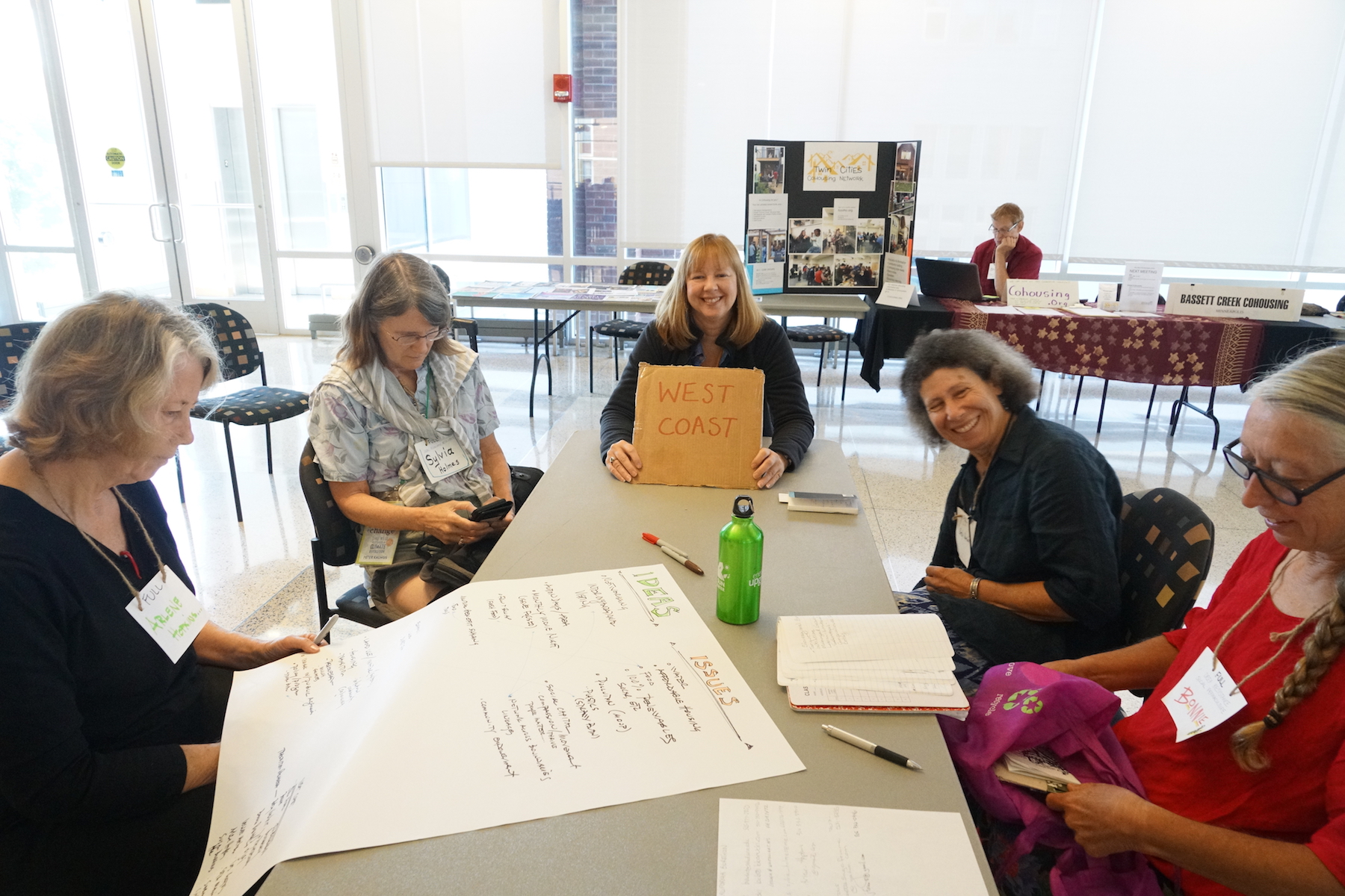 West Coast Transitioners represent and brainstorm ideas during their Sunday morning bioregional breakout. Photo by Teresa Konechne.