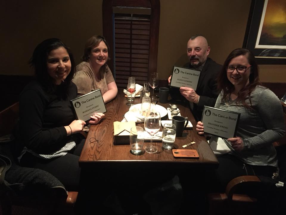 Our graduates: Mariana Puddu, Glenn Lickers and Heather Ewing