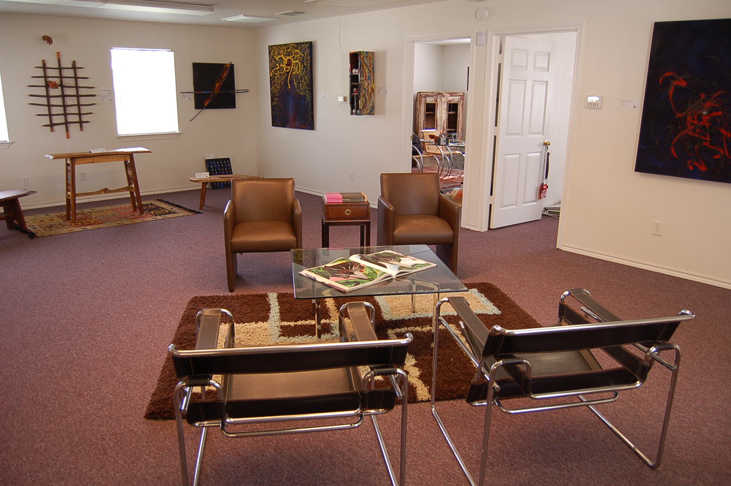 Reverse view of the lounge area of The Abstract Studio...