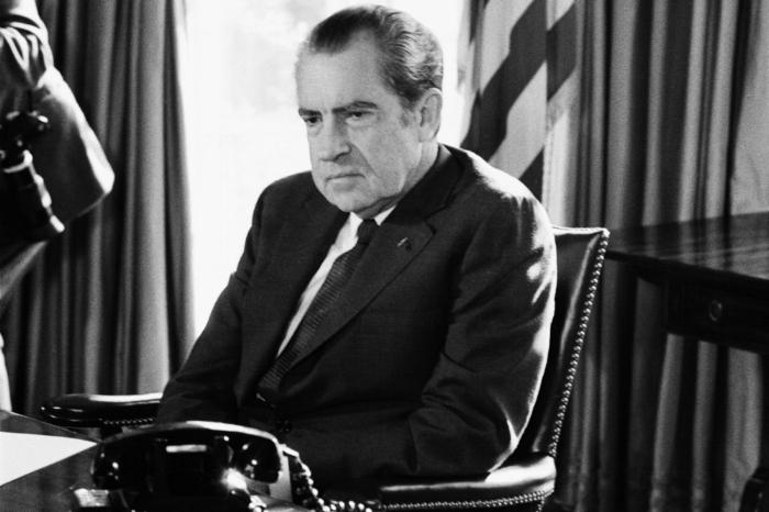Richard Nixon loving, laughing, living.