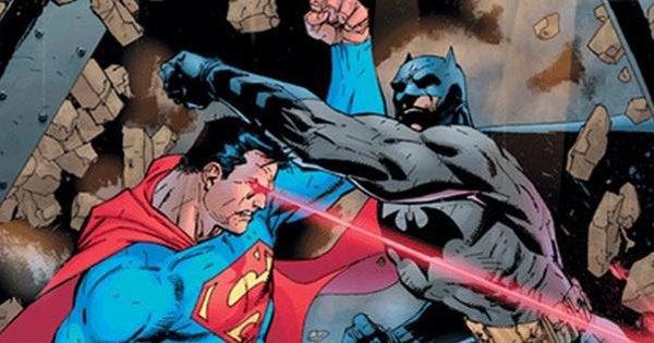 superman fighting batman sooo cool