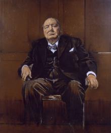 Sutherland's Portrait of Winston Churchill   monkey