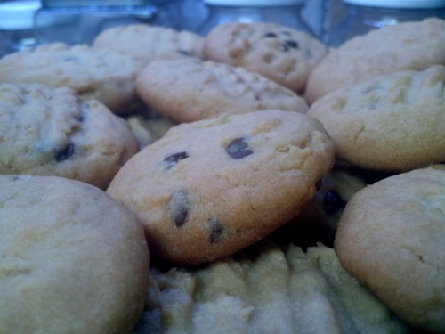 This chocolate chip cookie that's so dam sexy and it does not have to freaking try