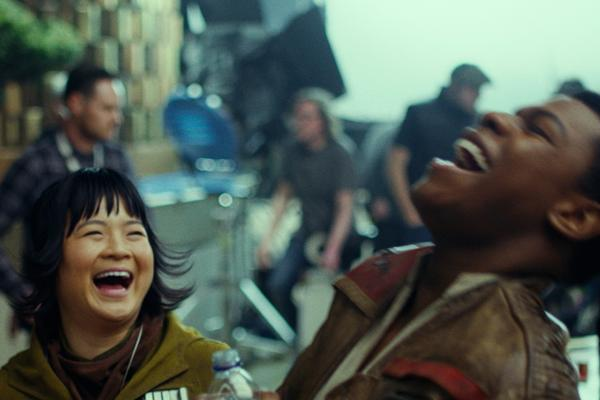 John Boyega  as  Finn , a former  stormtrooper  of the  First Order  who defected to the Resistance  Kelly Marie Tran  as  Rose Tico , a member of the Resistance who at the beginning works in maintenance