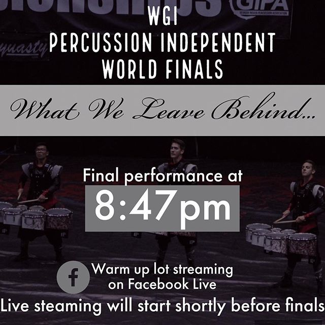 Stream our lot right before the performance, and let us know what you want to see! #WhatWeLeaveBehind #AQlife #AtlantaQuest #AQXV #wgi2017