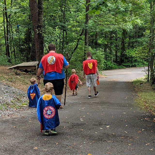 Vacations need super hero walks #framily2019