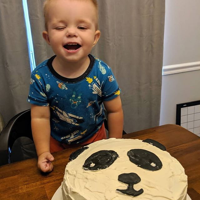 Panda cake for my panda lover Happy birthday, buddy!