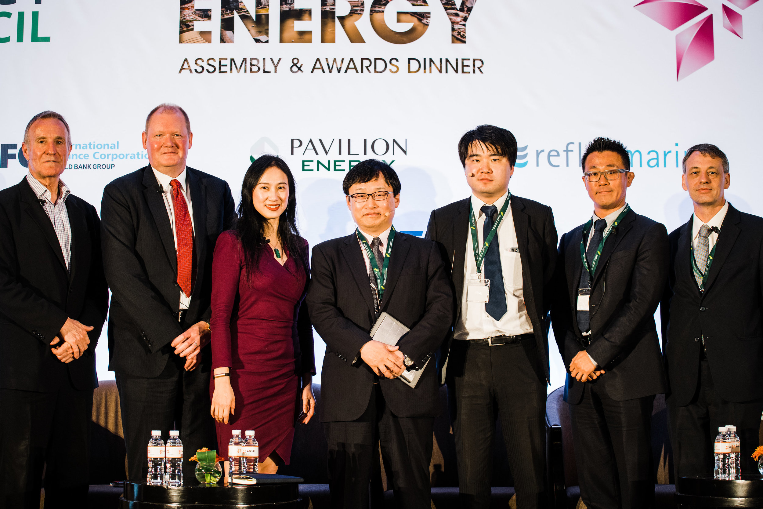 The Panelists at the 2018 Energy Council Asia Pacific Energy Assembly, including Daein Cha of Transborders Energy  (2nd from right).