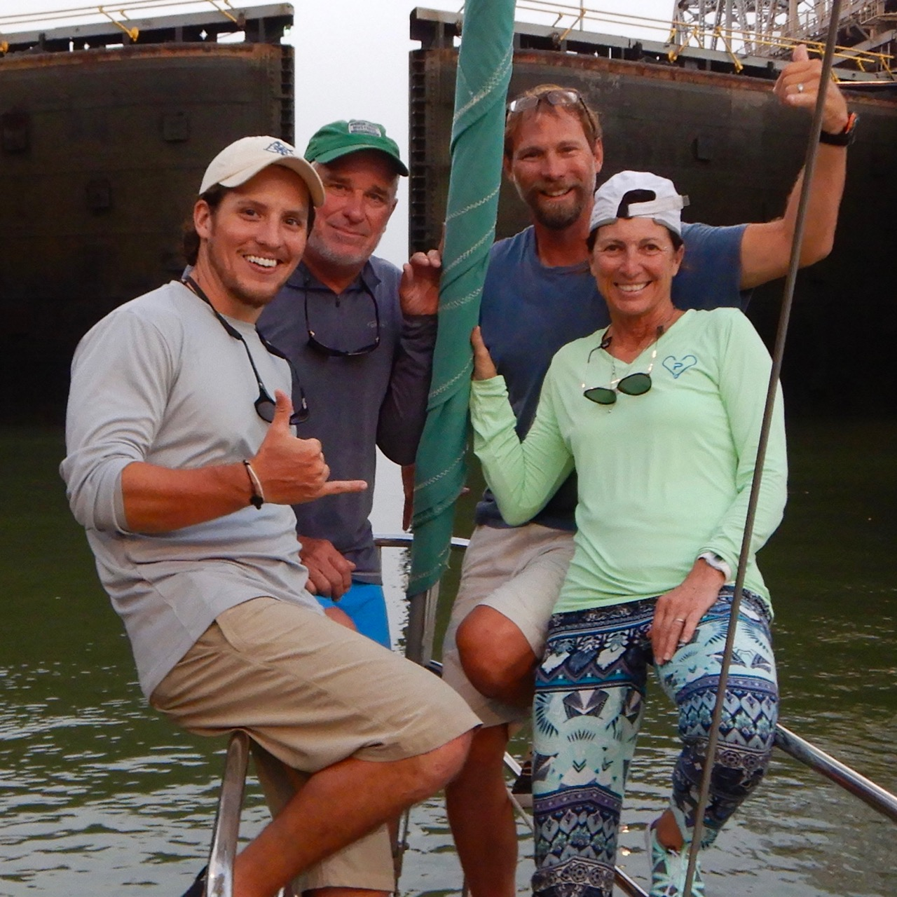 the perfect boat, is your boat … - … it's all about the memories.Behind us in this photo, the Panama Canal's locks open; we navigate SOLSTICE into the Pacific Ocean for the first time.