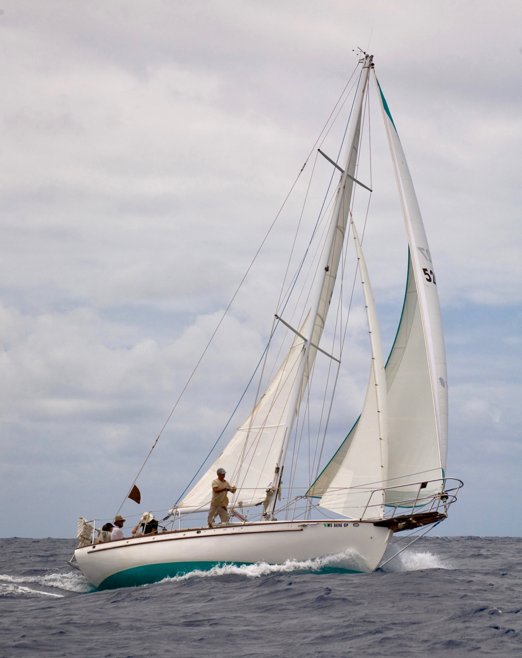 Paul Exner's SV Solstice … full keel bluewater cutter.