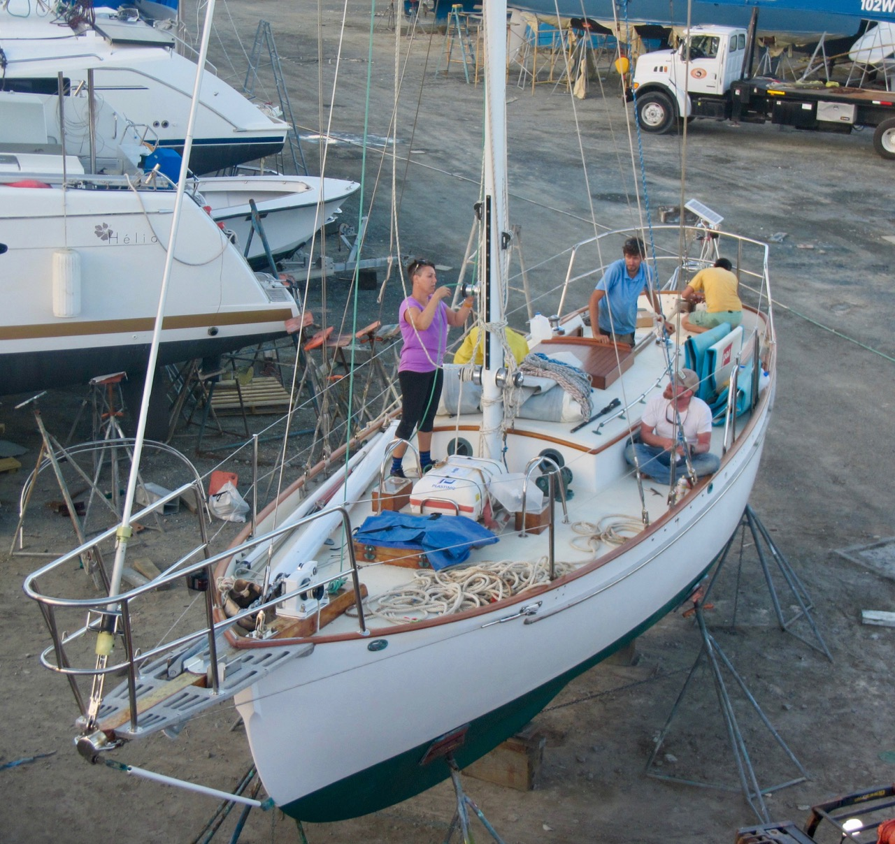 Paul Exner's hand-built SV Solstice (from a bare Cape George 31 hull) is refit in the British Virgin Islands following massive destruction caused by Hurricane IRMA's direct hit on the territory.