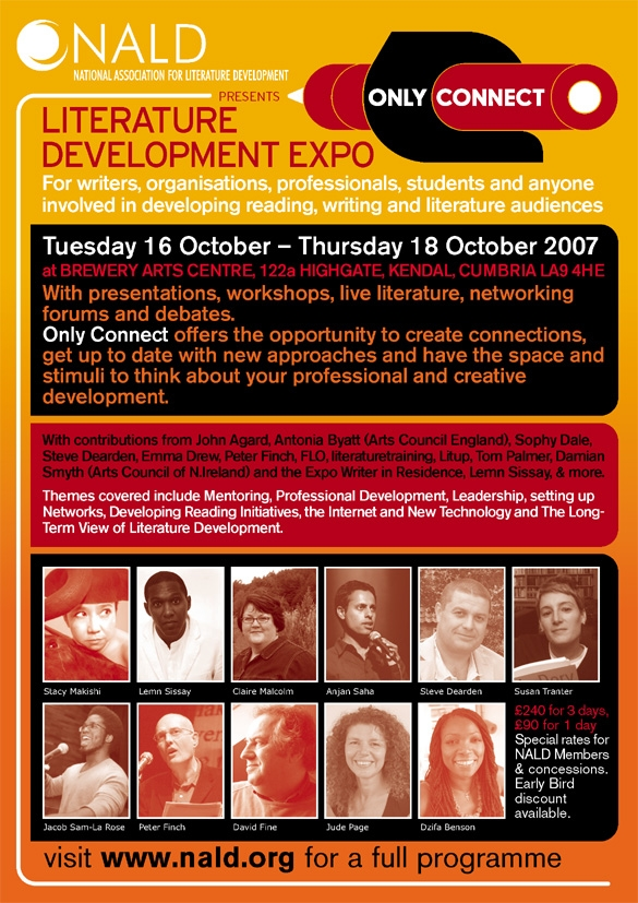 National Association for Literature Development Expo, 2007 - Dzifa was part of the team who organised this expo of presentations, workshops, live literature, forums and debates for writers, organisations and professionals involved in developing reading, writing and literature audiences.