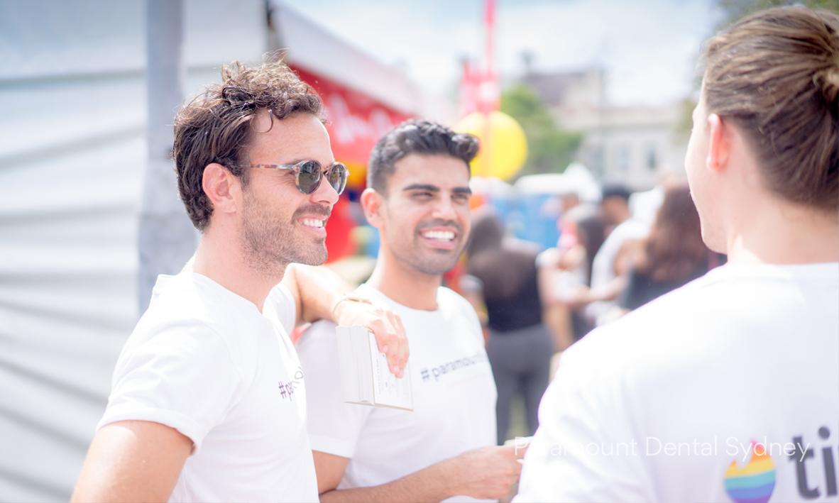 Adam Robinson & Dr Amrinder Oberoi greeting the Tinder team