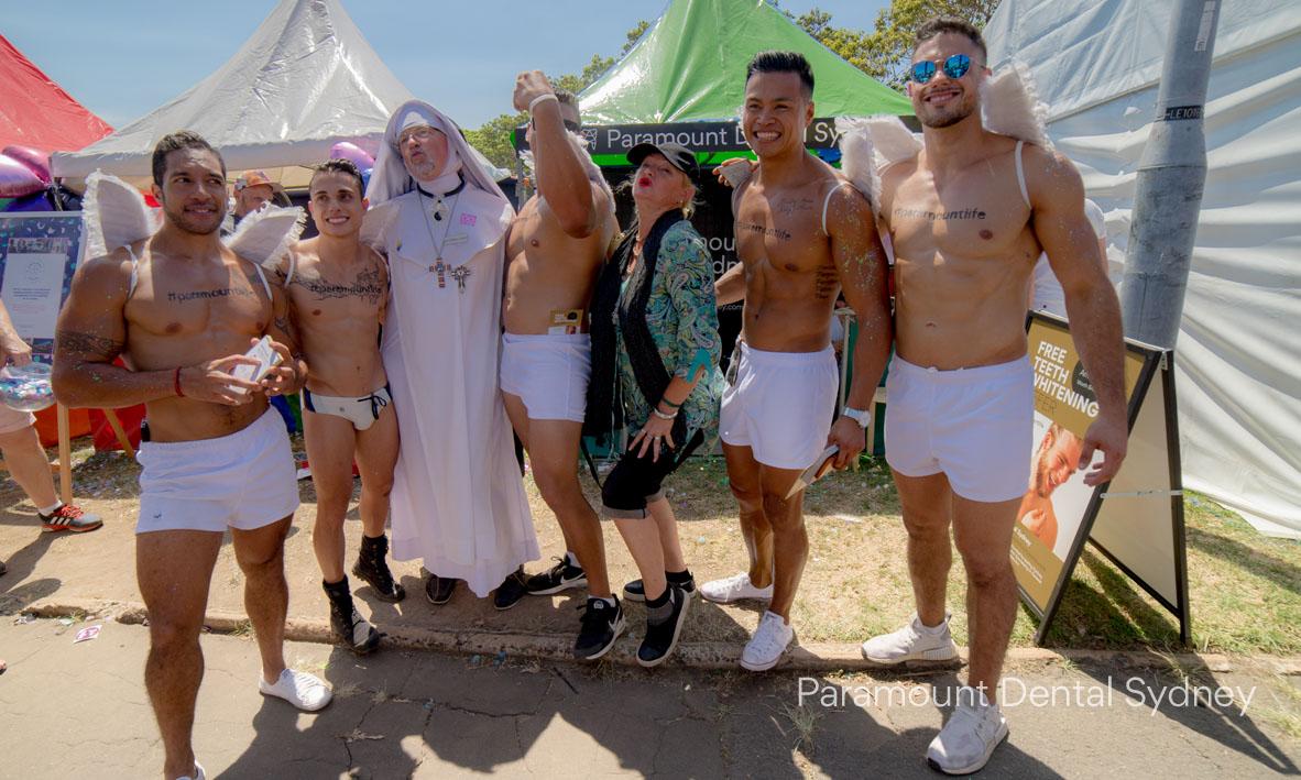 Rakena, Andy Blair, Juan Vergara, Shondel Surma and Rob Brown with two holy guests