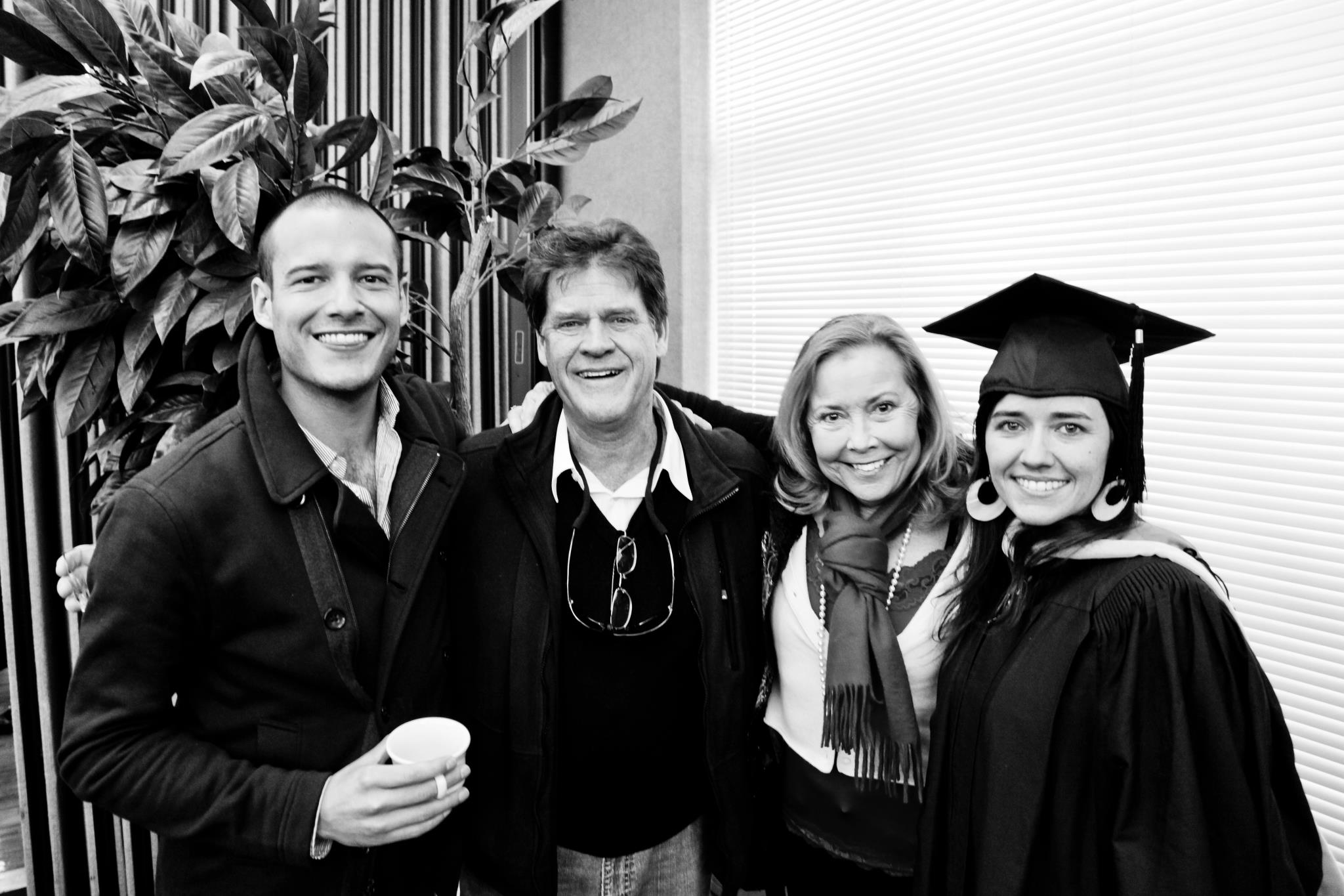 This is me with my family at Colorado State University for my MSW Graduation.