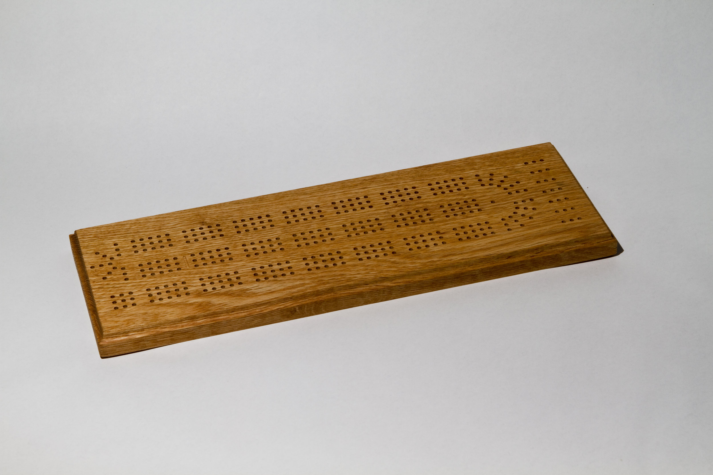 Red Oak Standard Cribbage Board (with Natural Stain)