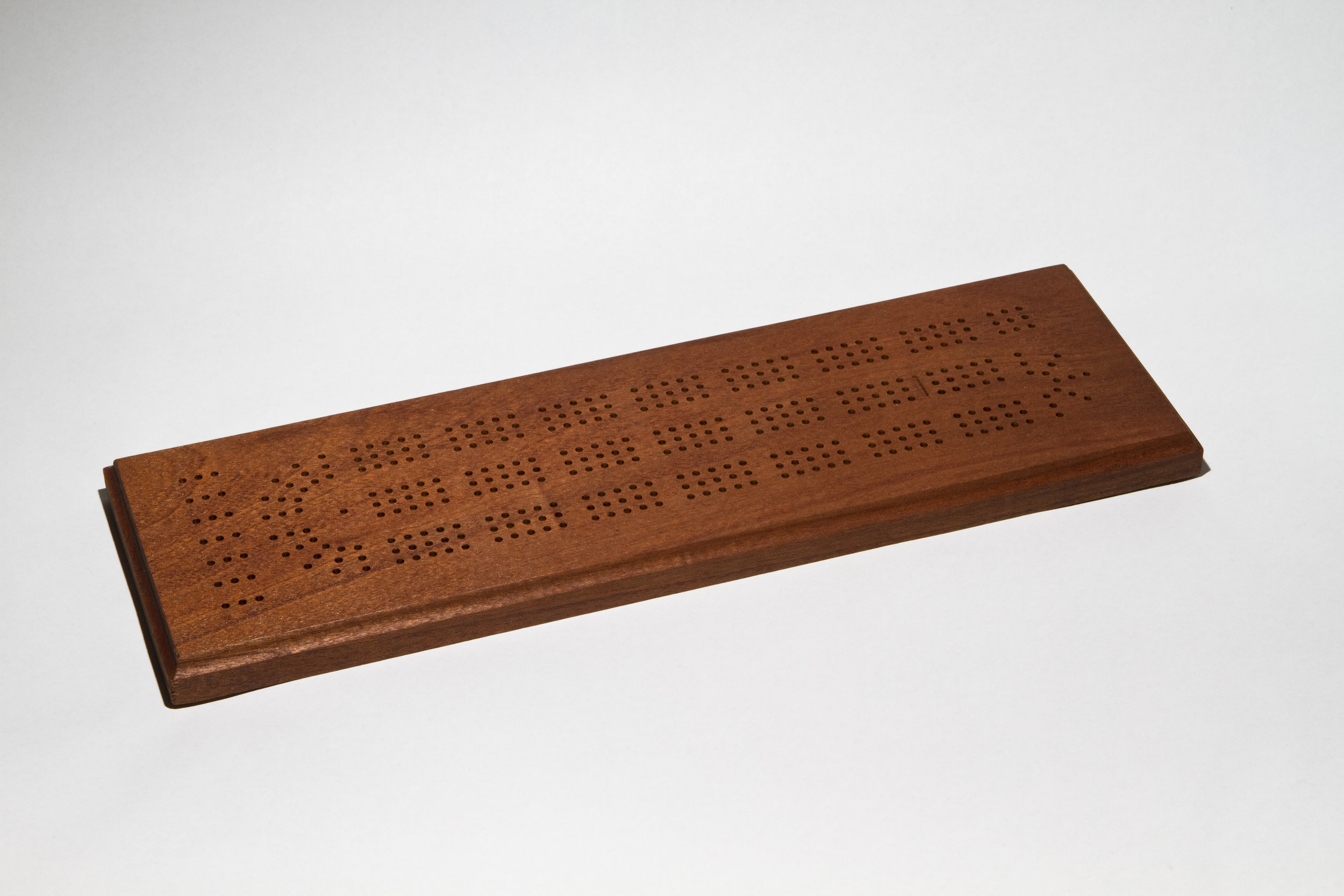 Sapele Standard Cribbage Board (with Natural Stain)
