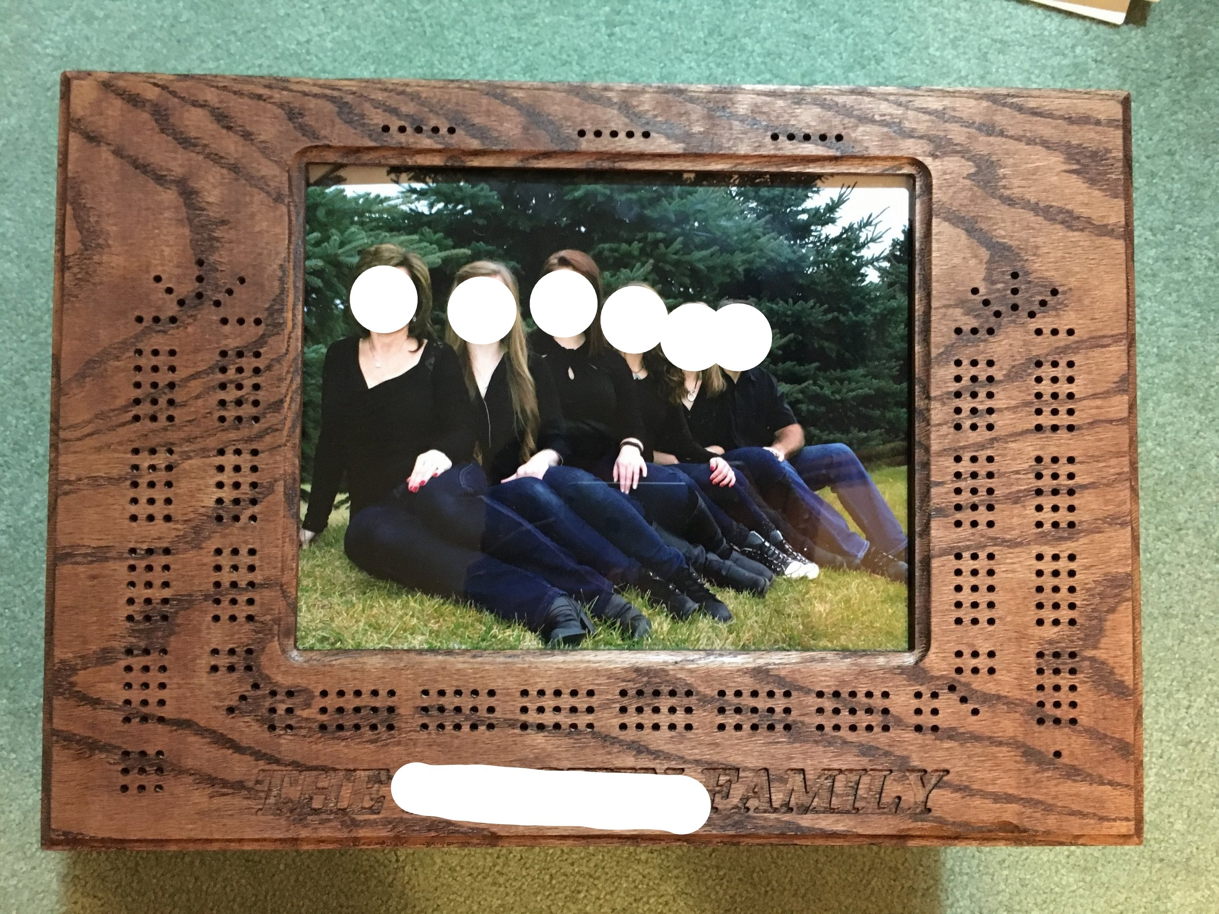Picture Frame Cribbage Board