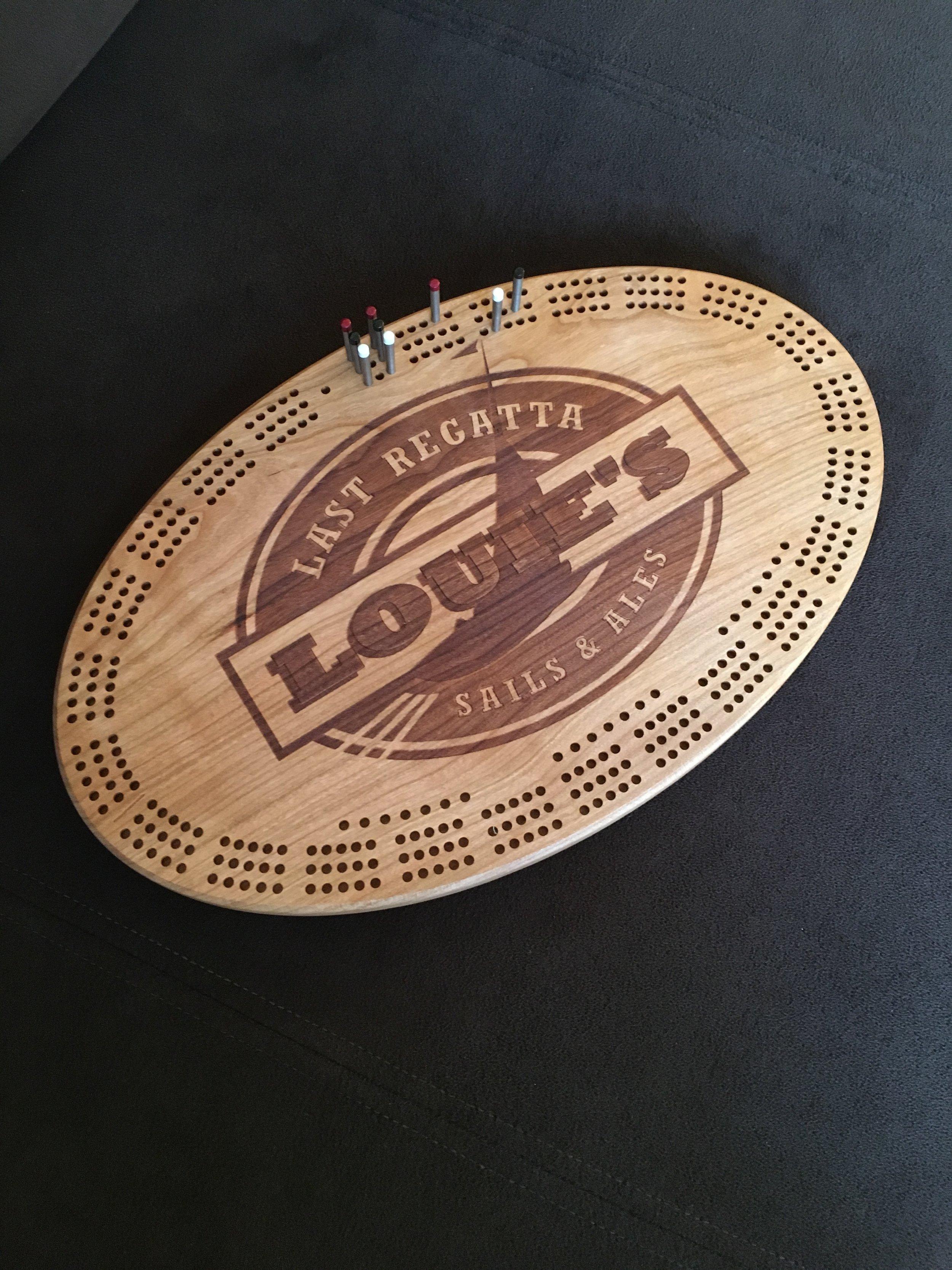 Louie's Last Regatta Cribbage Board